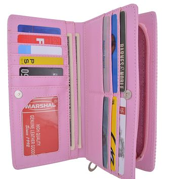 Womens Multicolor Credit Card ID Holder Zipper Wallet
