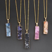 Colorful Druzy Pendants