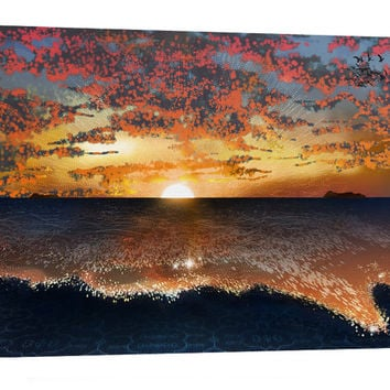Sunset ~ Visionary Art / Psychedelic / Ayahuasca / Digital Painting ~ A3 Canvas Print from original artwork by Shmueli Bell