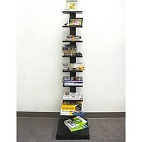 Proman WM16567 Spine Standing Book Shelves - Black