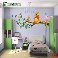 Winnie The Pooh Flowers Wall Decals Sticker Decor PVC Removable Kids Nursery
