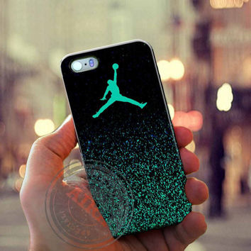 Air Jordan Jump Mint Glitter Case for Iphone 4, 4s, Iphone 5, 5s, Iphone 5c, Samsung Galaxy S3, S4, S5, Galaxy Note 2, Note 3.