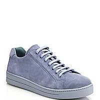 Prada - Suede Lace-Up Sneakers - Saks Fifth Avenue Mobile