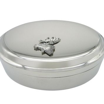 Moose Head Pendant Oval Trinket Jewelry Box