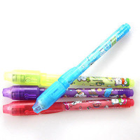 Invisible ink pen and UV black light combo secret spy message 3C1