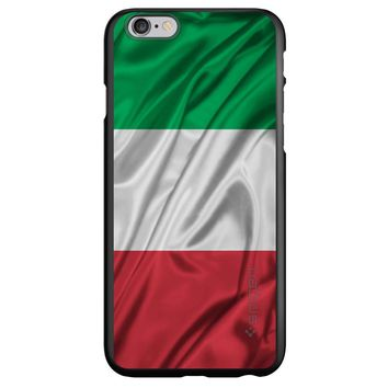 DistinctInk® Spigen ThinFit Case for Apple iPhone or Samsung Galaxy - Red White Green Italian Flag Italy