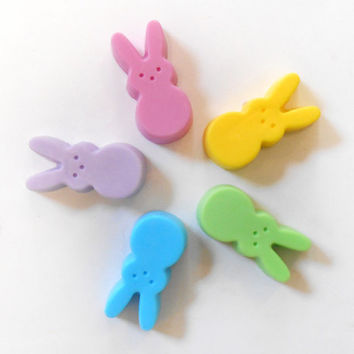 Marshmallow Bunny Soaps - Great for Easter Baskets, Baby Shower, Candy Fetish - Set of Three