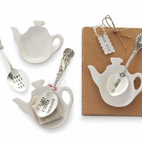 Tea-Riffic Spoon And Rest Set by Mud Pie