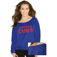 Touch by Alyssa Milano Chicago Cubs Ladies Draft Choice Sweatshirt - Royal Blue