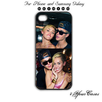 Justin Bieber,Miley Cyrus,iPhone 5 case,iPhone 5C,iPhone 5S,Samsung Galaxy S3, Samsung Galaxy S4 Phone case,iPhone 4 Case, iPhone 4S Case