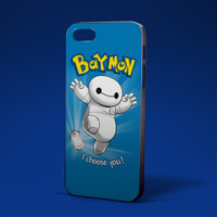 baymon baymax and pokemon for iPhone 4/4s,iPhone 5/5s,5c,6 samsung galaxy S3,S4,S5, hard case