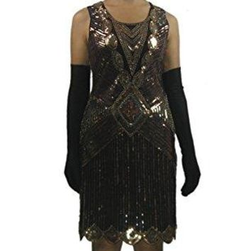 Whitewed 1920s 20s Gold Digging Flirty Flapper Gangsters Theme Dress Costume