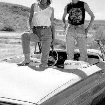 "Thelma And Louise Poster Black and White Poster 24""x36"""