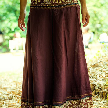Wrap Long Skirt, Gypsy Skirt, Tribal Skirt, Gypsy Clothing, Funky Clothing, Hippie, Fairy, Bohemian, Dance Skirt, Cotton Skirt, One Size