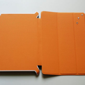 Orange iPad smart cover,Slim iPad smart case, Swarovski Crystals ipad slim case,kawaii ipad cover