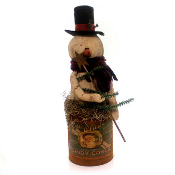 Christmas Snowman Can Large Christmas Decor