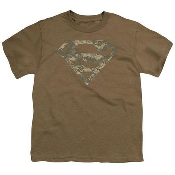 ac NOOW2 Superman - Army Camo Shield Short Sleeve Youth 18/1