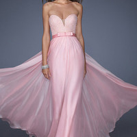 Mist Pink Simple A-line Sweetheart Sleeveless Floor Length Plus Size Prom Dresses