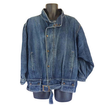 Vintage Men Denim Jacket Men Jean Jacket Blue Jean Jacket 80s Jacket Men 80s Clothing 1980s Clothing Menswear Light Jacket Fall Jacket