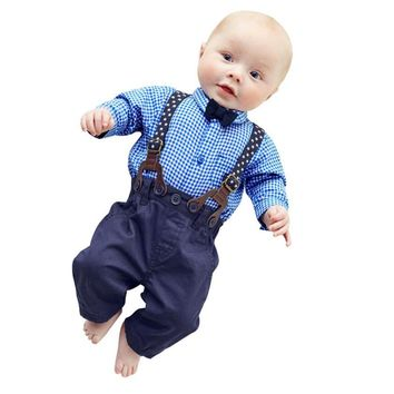 Infant Boys Plaid Pants Sets Plaid