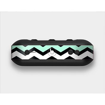 The Teal & Black Wide Chevron Pattern Skin Set for the Beats Pill Plus