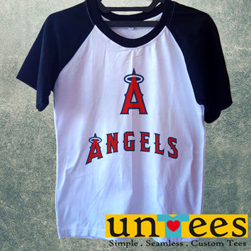 Los Angeles Angels Short Raglan Sleeves T-shirt