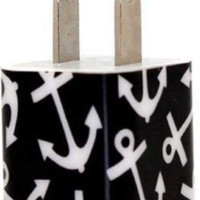 Black Anchor Phone Charger