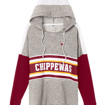 Central Michigan University Varsity Pullover Hoodie - PINK - Victoria's Secret