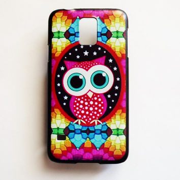 Samsung Galaxy S5 Owl Case Hard Plastic Rainbow Colors Galaxy S5 Back Cover Cute Samsung S5 Cover