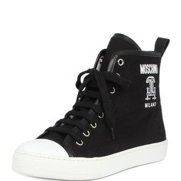 Runway Capsule High-Top Sneaker, Fantasy Print Black