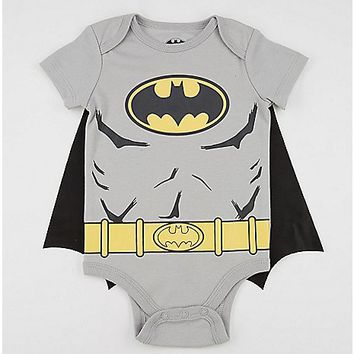 Grey Batman Caped Baby Bodysuit - Spencer's