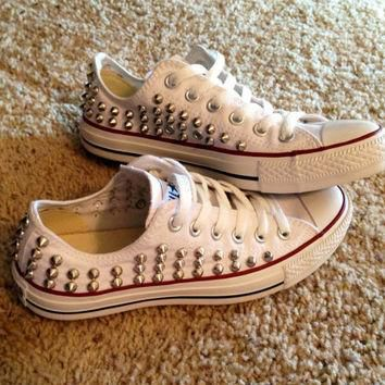 Studded Converse FULLY STUDDED by DonishDesigns on Etsy