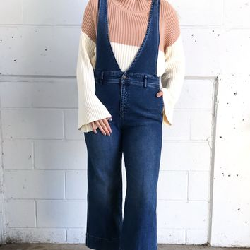 Free People Jean A-Line Overall - Blue