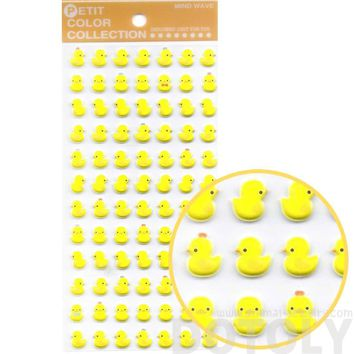 Rubber Ducky Animal Themed Puffy Sticker Seals for Scrapbooking and Decorating
