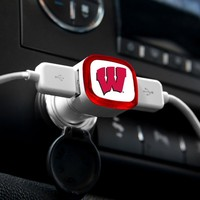 "Wisconsin Badgers ""W"" - Dual USB Car Charger"