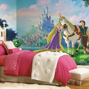 ICIKX8J Disney Princess Tangled XL 7-piece Mural Wall Decal | null