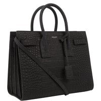 Saint Laurent Small Croc Print Sac De Jour Bag | Harrods
