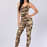 Nova Season Jumpsuit - Camo