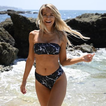 Splash of Cannes Island Bikini Set in Black