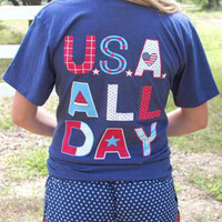 USA All Day Tee | Jadelynn Brooke