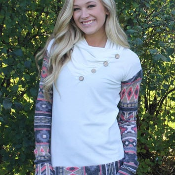 Cozy Cabin Getaway Top - White