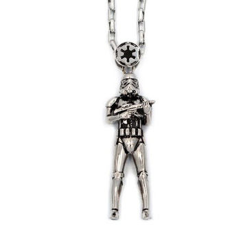 Stormtrooper Pendant Necklace