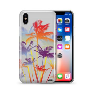 Hipster Palm Tree - Clear TPU Case Cover Phone Case