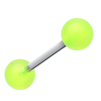 Glow in the Dark UV Acrylic Barbell Tongue Ring