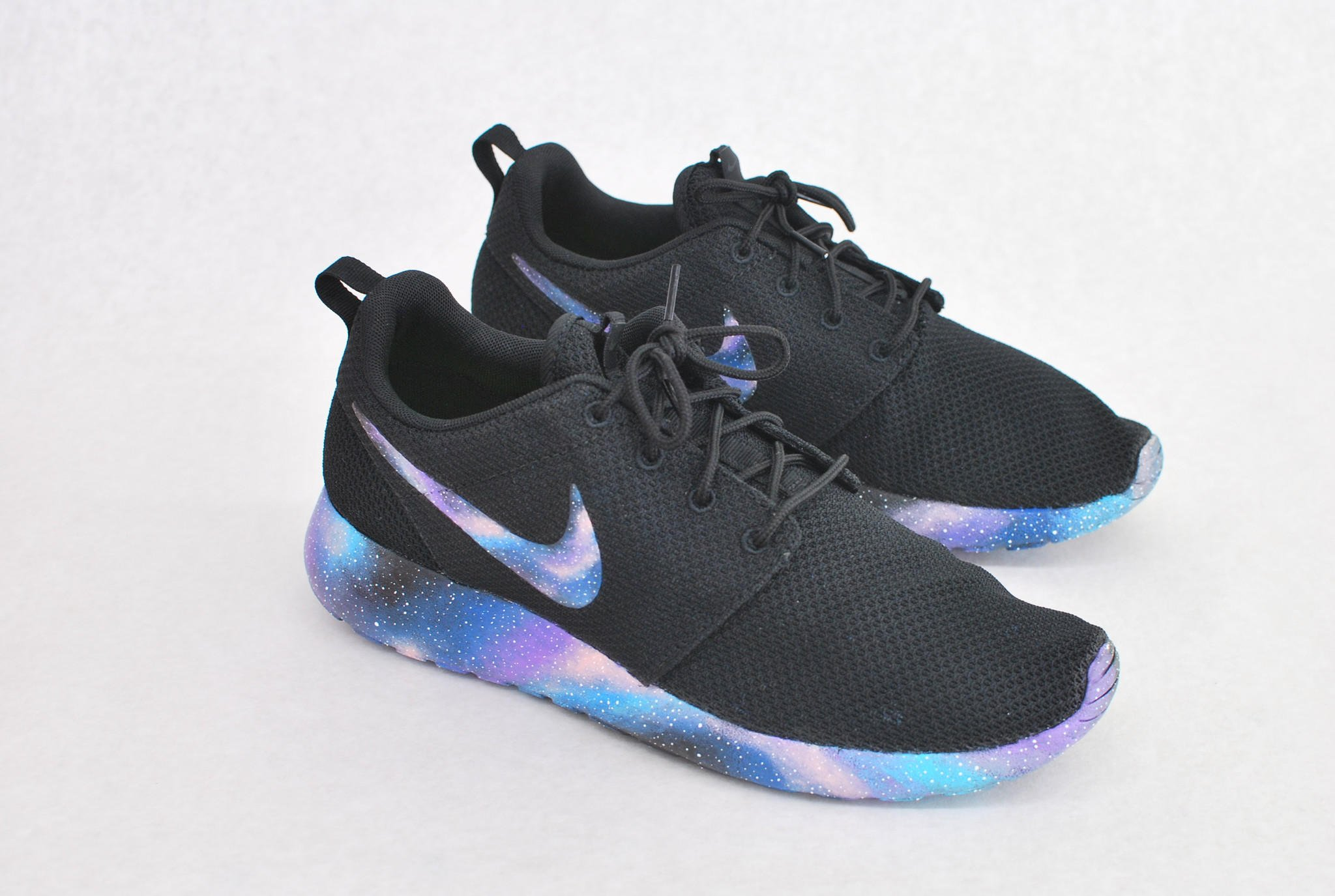 Hand Painted Galaxy Nike Roshe Run from bstreetshoes.com  28a480138bf5