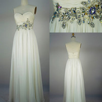 Custom Sweetheart Floor-length Chif.. on Luulla