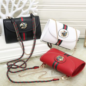 GUCCI Woman Leather Fashion Crossbody Shoulder Bag Satchel