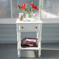 Night Stand, End Table, Shabby Chic, Country Chic Vintage