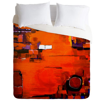Robin Faye Gates Abstract Orange 1 Duvet Cover