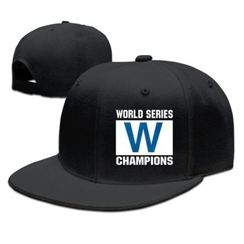 Chicago Cubs 2016 World Series Champions W Flag Funny Unisex Adult Womens Hip-hop Cap Mens Snapback Caps